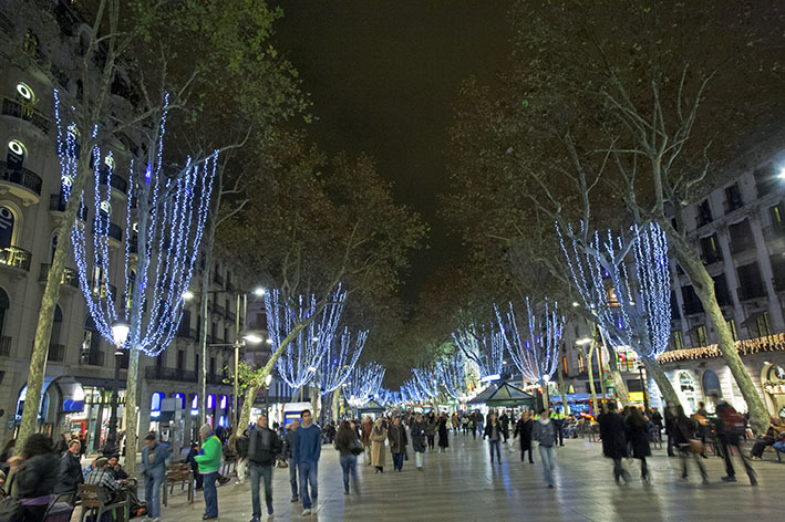 Christmas shopping on the Ramblas