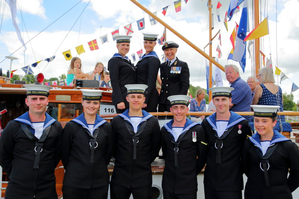 Royal Navy at the Henley Traditional Boat Festival 2016