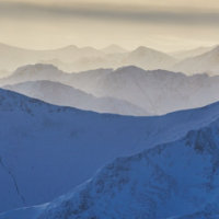 Carn Mor Dearg to The Mamores, Glen Coe and beyond