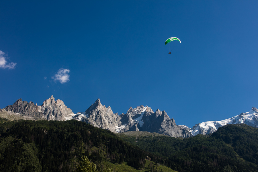 Daredevil Holly Paragliding above Chamonix