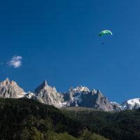 Daredevil Holly Paragliding above Chamonix