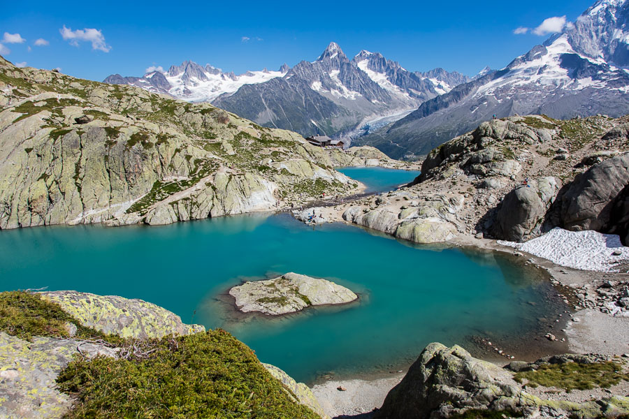 Lovely Lac Blanc at 2,352m in The Aiguille Rouges