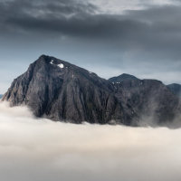 Buachaille Etive Mor cloud inversion
