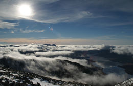 Ben Cruachan under a sea of clouds