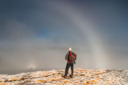 Fogbow, Ringed Glory and Brocken Spectre shadow