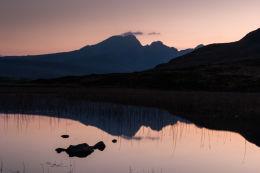 Twilight Blà Bheinn across Loch Cill Chriosd