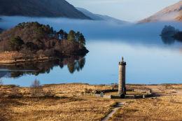 Glenfinnan Monument morning mists