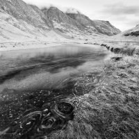 Aonach Eagach reflects in The River Coe
