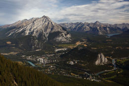 The view from Sulphur Mountain