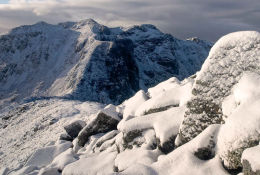 November Snows on Bidean nam Bian (3658ft)
