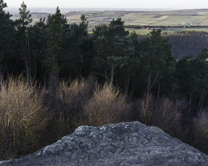 Hanging Stone, North York Moors (NZ 59145 13448) looking N.W.