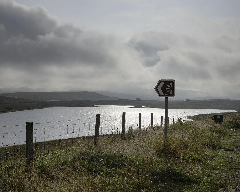 Hulma Water, Shetland (HU 29320 52689) looking E.