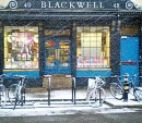 Order No 004: Blackwell's Bookshop, Oxford, with its lights on in winter, and looking pretty in the snow.