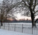 Early on a winter's morning in Christ Church Meadow, Oxford