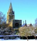 Order No X093: Season's Greetings! Christ Church Cathedral from Christ Church Meadow, Oxford