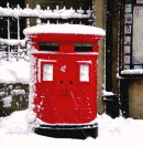Order No X097: Season's Greetings! An old-fashioned double post box at Carfax in Oxford