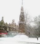 Order No 126: Snow covers the Martyrs' Memorial, St Giles, Oxford