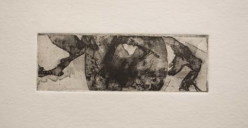 etching of ink drawing