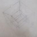 Tesseract drawings in wax