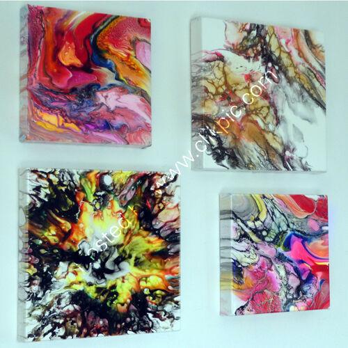 Abstract Acrylics on wall