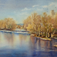 Dinham Weir, Early Spring