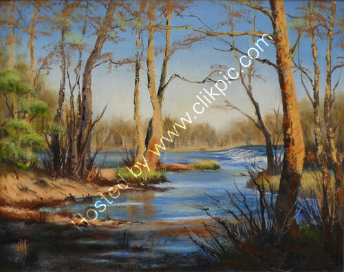 Dinham Weir from the Mill on the Green II Oil S