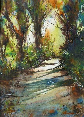 Path on Whitcliffe II Acrylic
