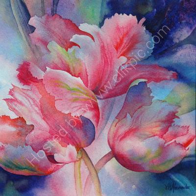 Windblown Tulips II S