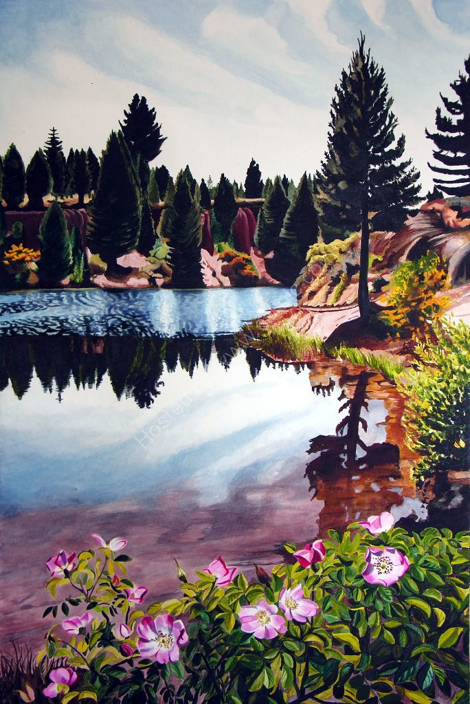 Coal Pit Dam .Painting on canvas.
