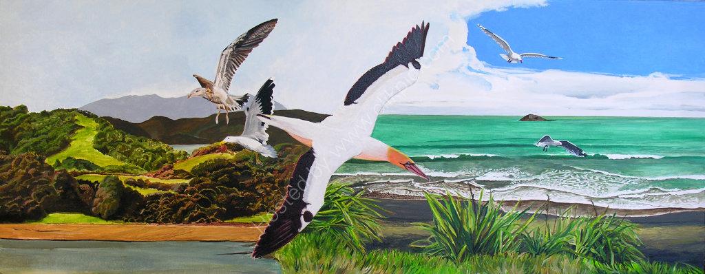 Coast to Coast. Painting on canvas.