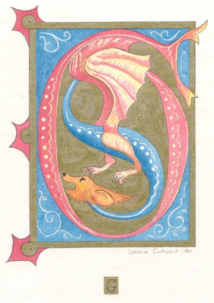 G illuminated dragon
