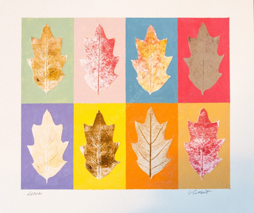 Leaves. Collages on paper.