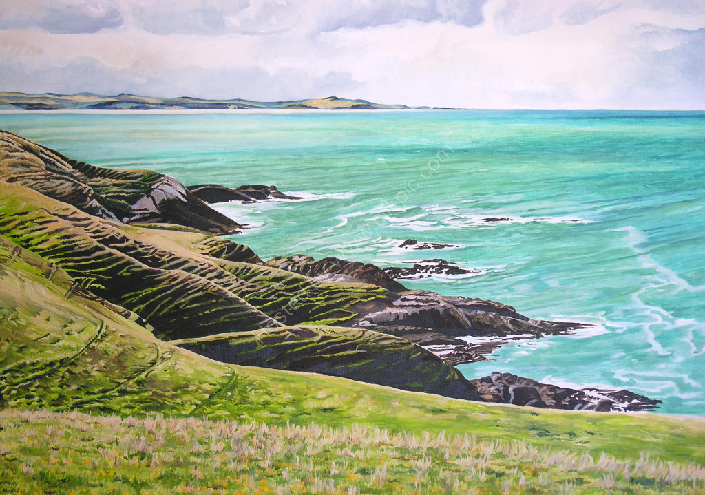 Okahau Point. Painting on canvas.