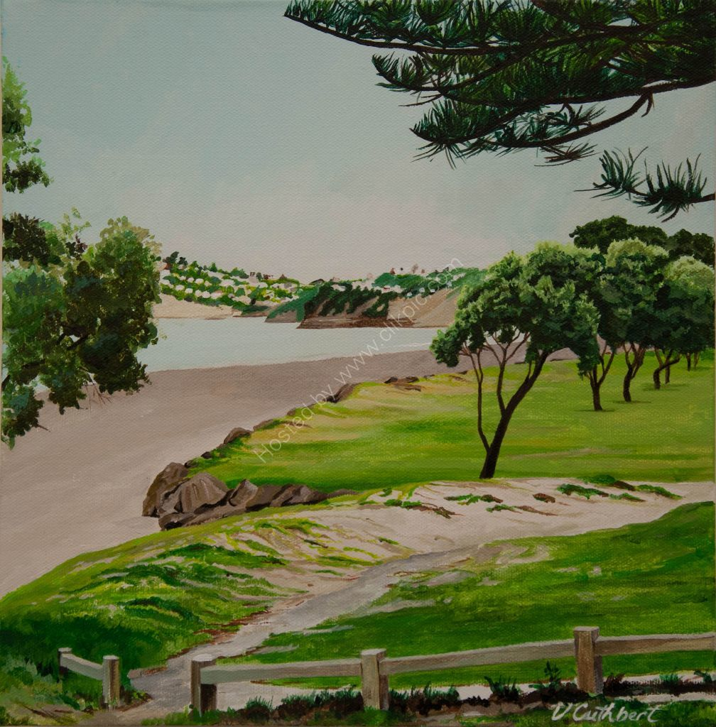 Orewa Beach South. Painting on canvas.