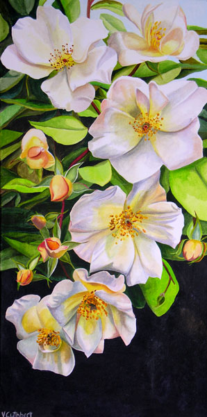 Sally Holmes Rose. Acrylic painting on canvas.