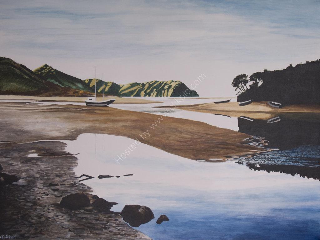 Tasman Bay. Painting on canvas.