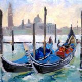 Gondola's at San Marco, Venice