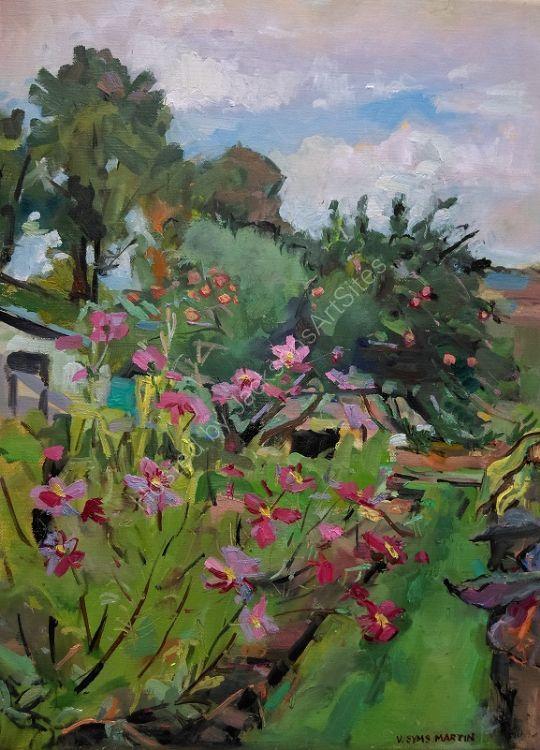Cosmos Flowers in the October Garden
