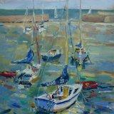 Choppy Day at Bray Sailing Club.  Sold