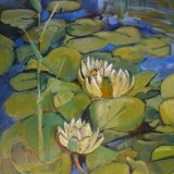 Water Lilies at How Hill.  Sold