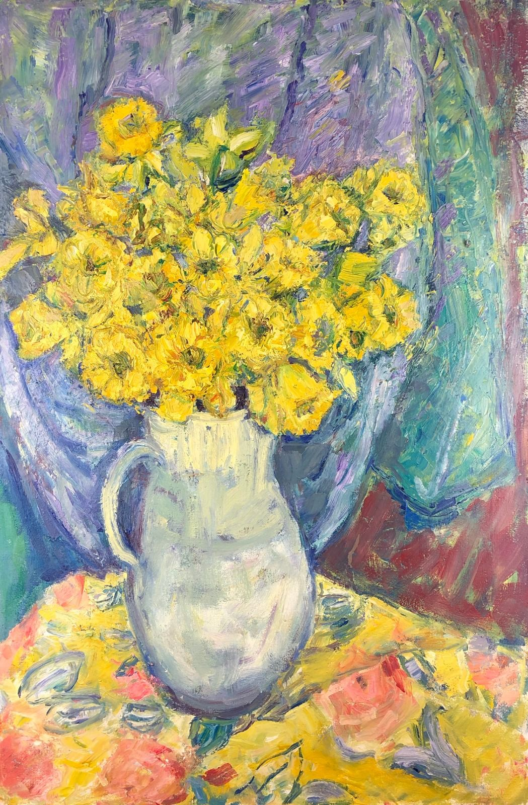 Daffodils in a Jug 2. 36in x 24in