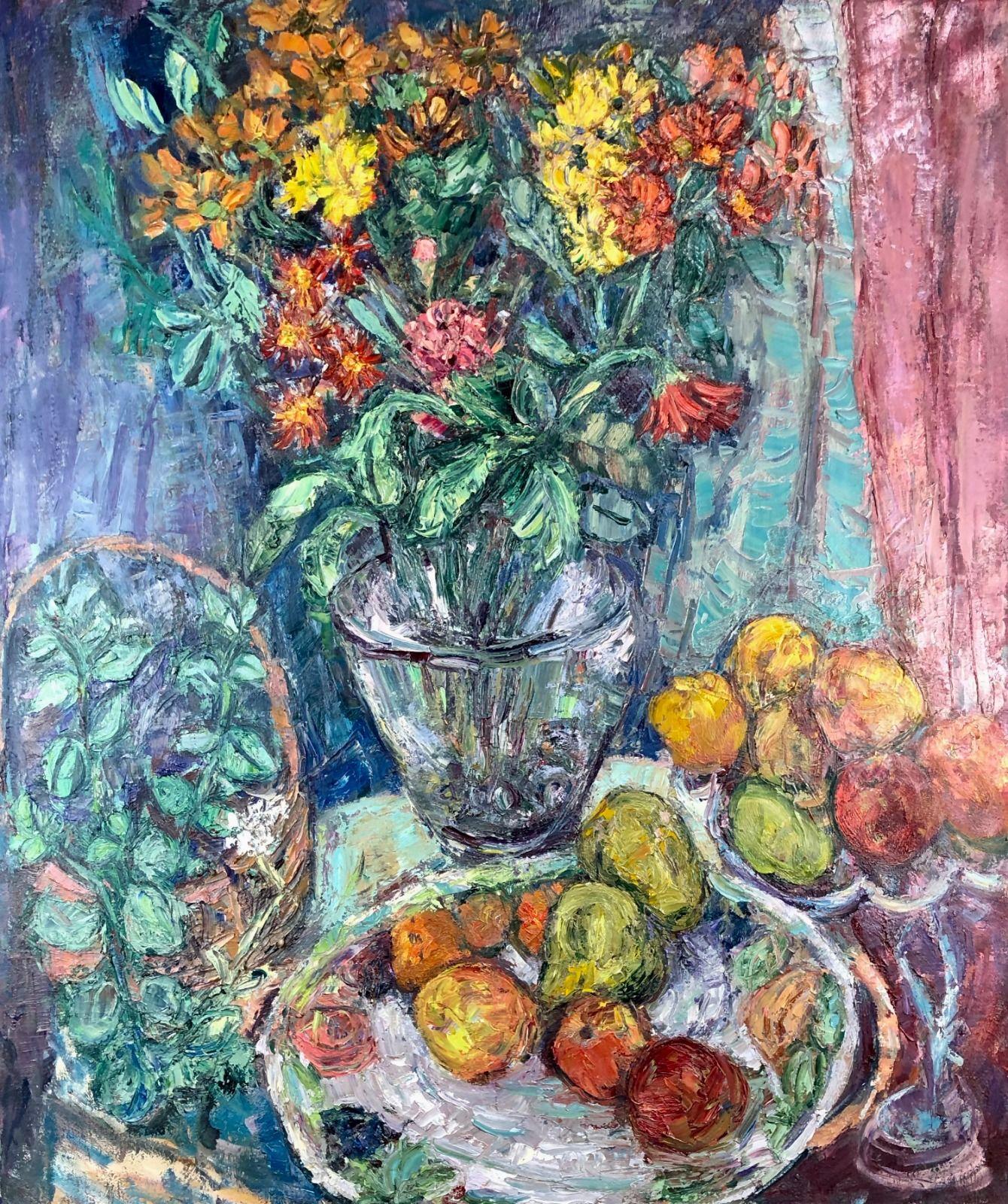 Flowers & Fruit. 48in x 36in