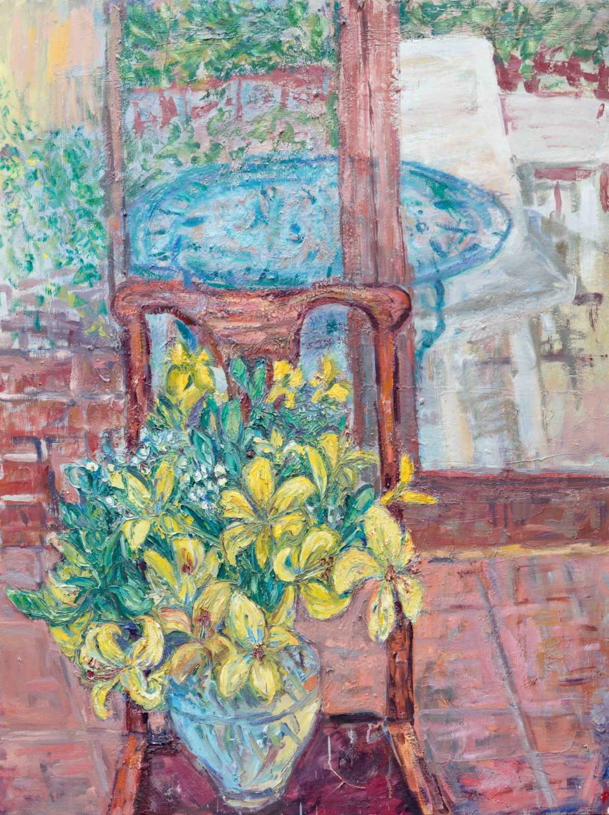 "Yellow Lilies. 48"" x 36""."