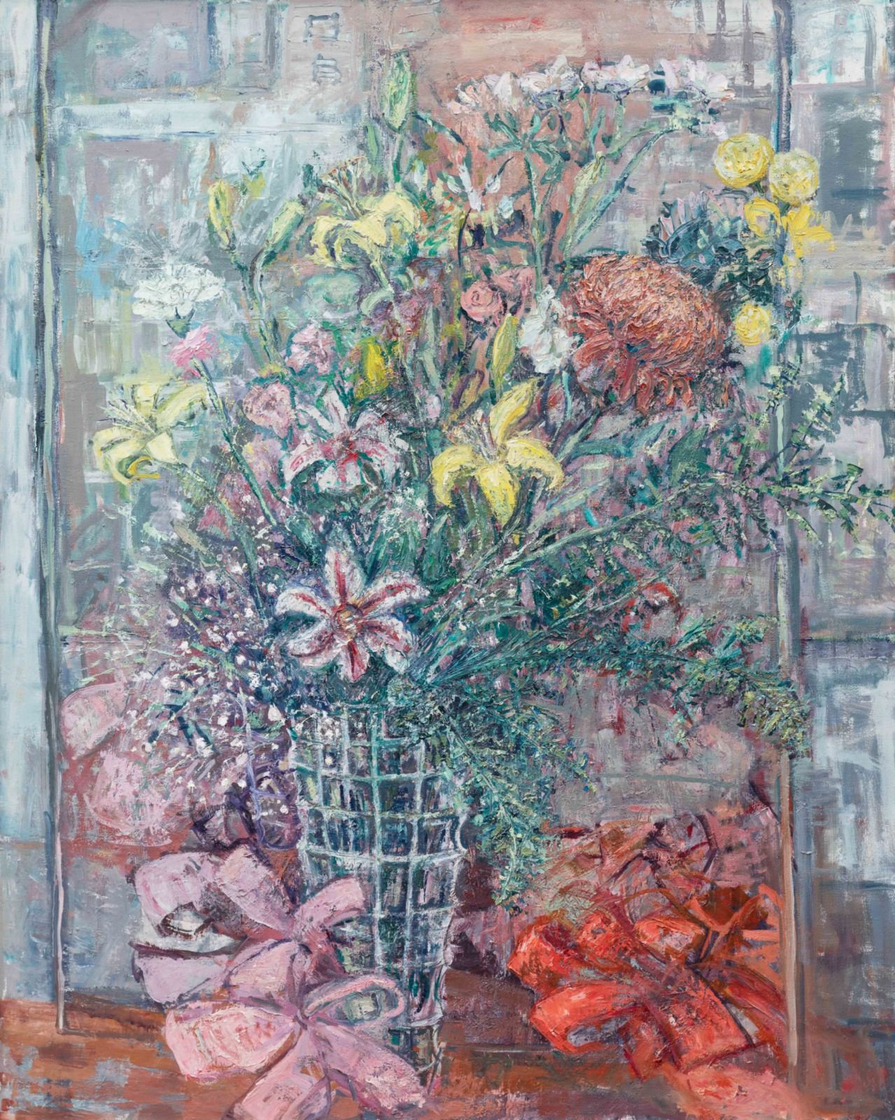 "1990 Birthday Bouquet. 60"" x 48""."