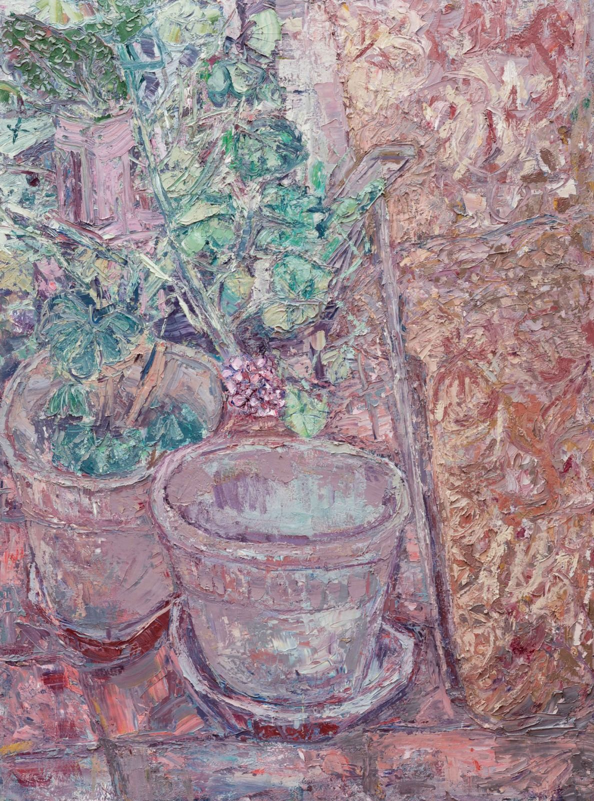 "Pots & Plants. 48"" x 36""."