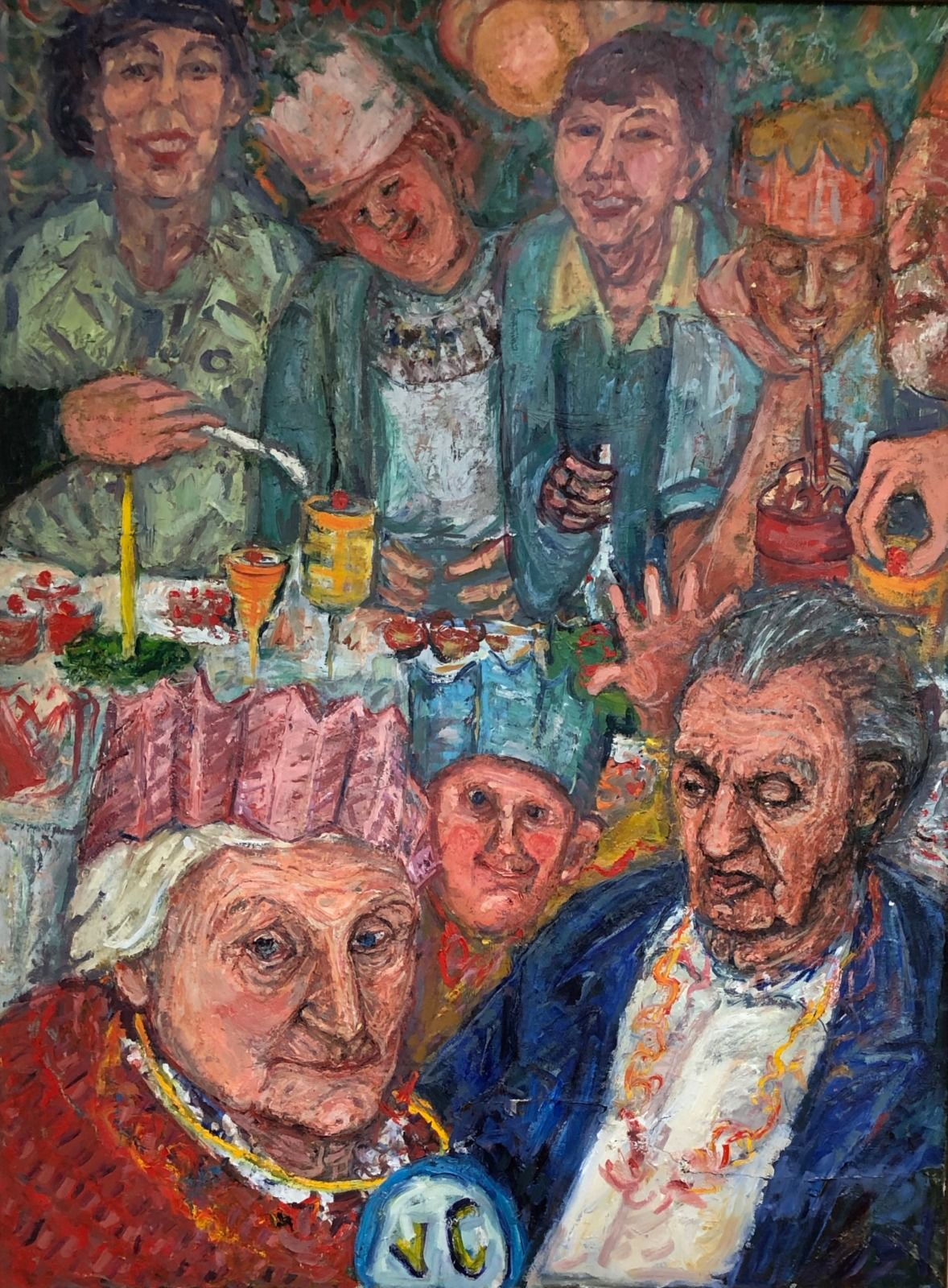 Party for Grandma. 48in x 36in