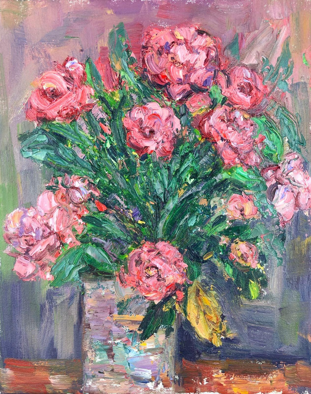 Pink Roses in a Vase. 15in x 12in
