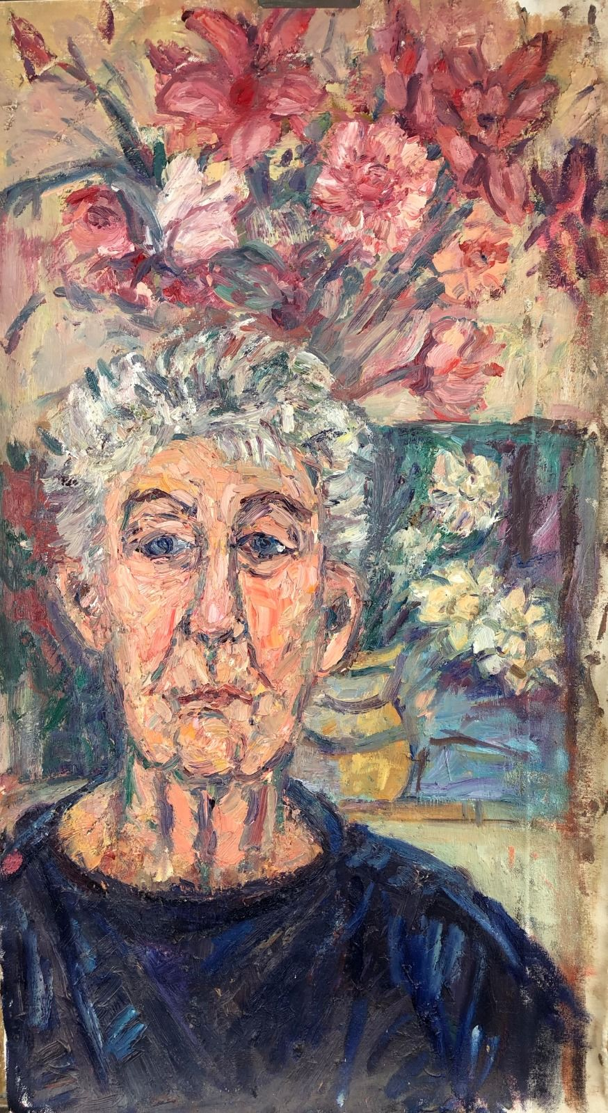 Portriat of Old Flower Painter. 34in x 19in