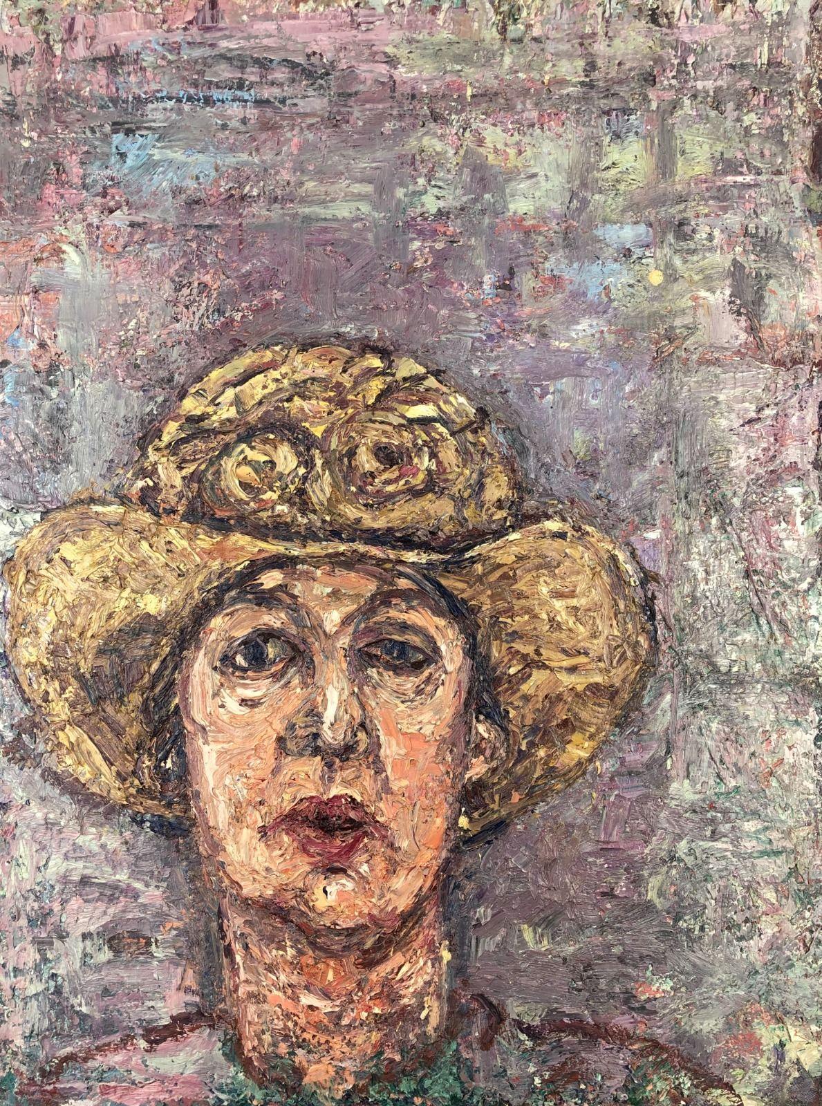 Self Portrait in a Gold Hat. 24in x 18in