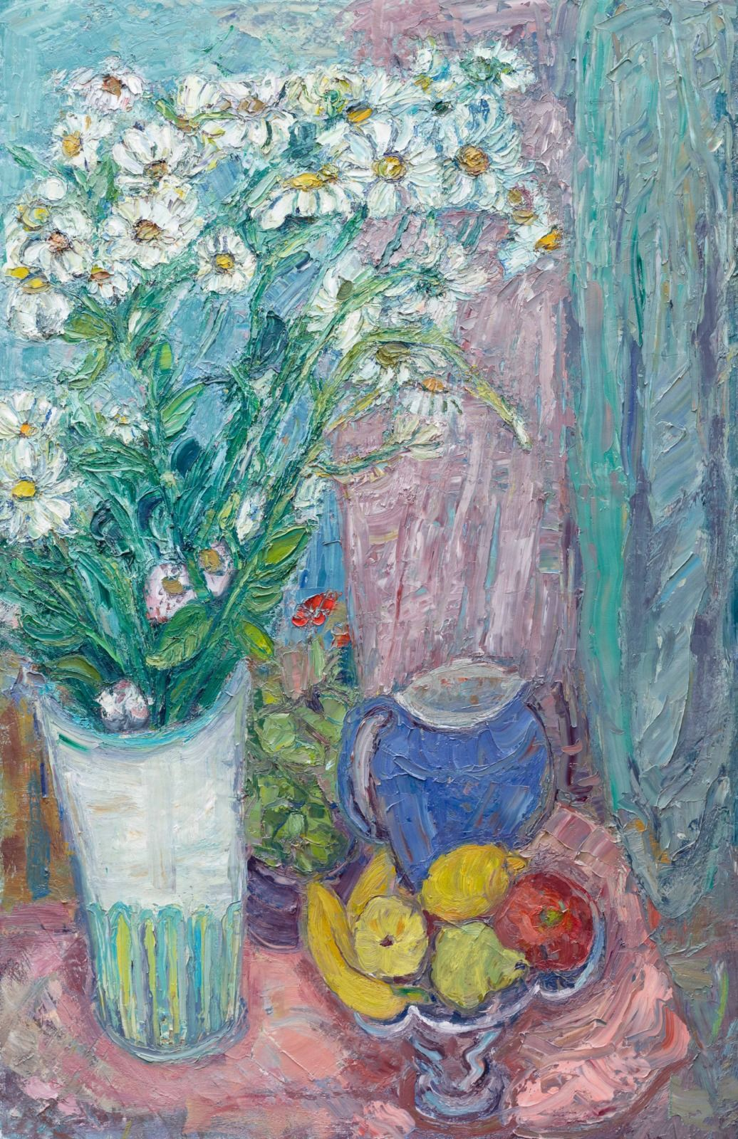 Still Life with Moonpenny Daisies. 51in x 34in